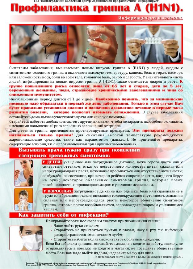 Профилактика гриппа Н1N1